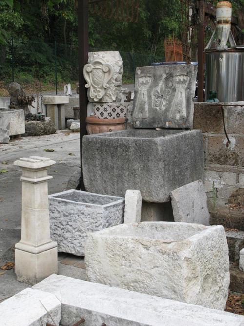 Fontane di pietra  vasche in pietra  Ditta Anile Diego